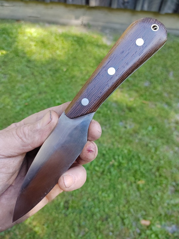 Knife 17 - Hunting-Skinning Knife with Wenge Scales