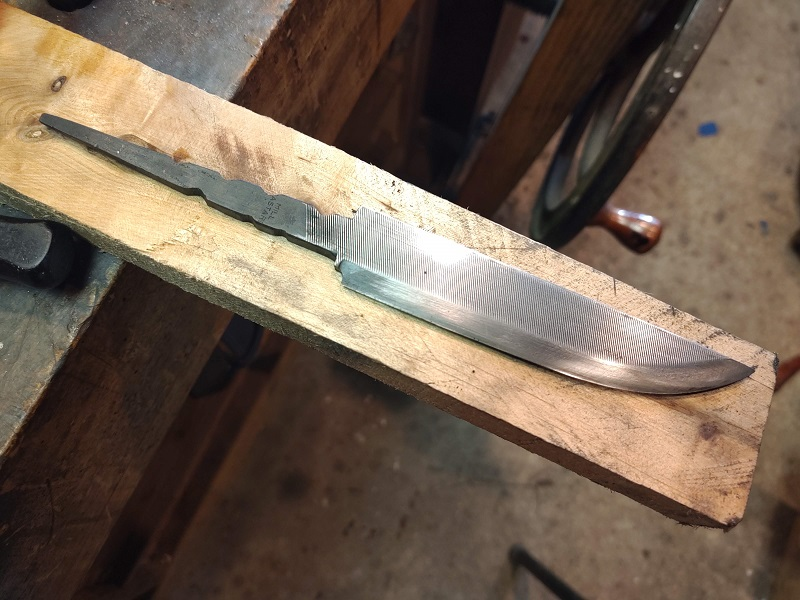 Knife 21 - Hidden Tang From a File Ready for hand sanding