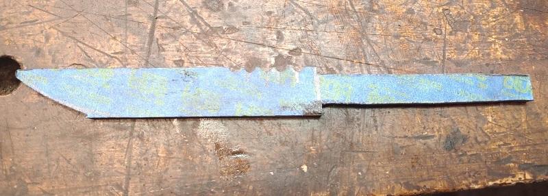 Knife 33 - Hidden Tang Antler Handled Hunter - jimping