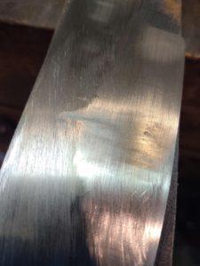 belt grinding mistake