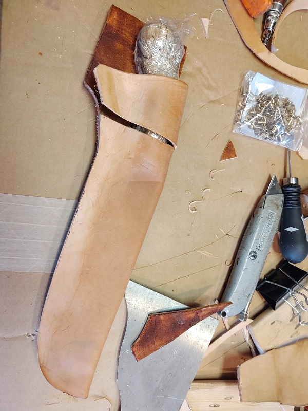 My Bladesmithing Journey - Making A Leather Knife Sheath
